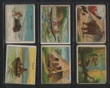 Tobacco cigarette cards set Indian Life in the 1860's.