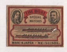 VERY OLD match box labels CHINA or JAPAN patriotic #156