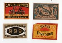 VERY OLD match box labels CHINA or JAPAN patriotic  #313