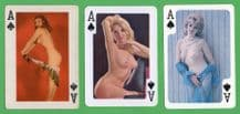 Vintage Aces of Spades playing cards selection pin up girls #246