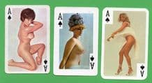 Vintage Aces of Spades playing cards selection pin up girls #247