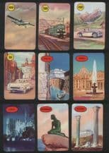 Vintage Collectible cards game Round Europe by Pepys 1957