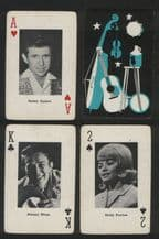 Vintage collectible playing card. Country Music 1967 by Heather product