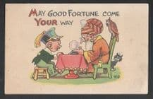 Vintage Collectible Postcards Tarot fortune teller cartomancy