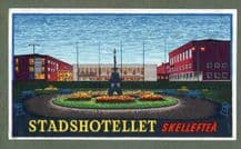 Vintage CollectibleHotel luggage label Sweden very early beautiful art & colours #214