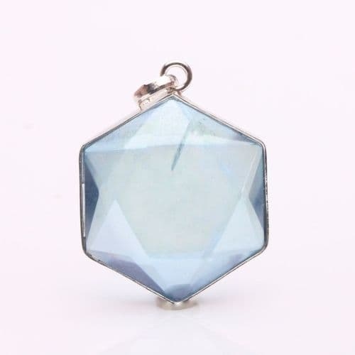 "Aqua Aura Pendant,""Star of David"" 5"