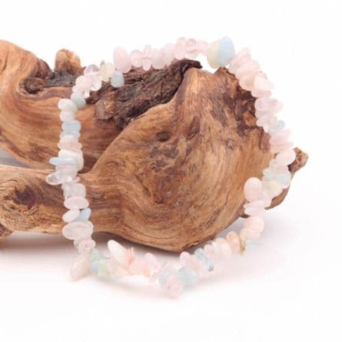 Aquamarine & Morganite Bracelet | Crystal Healing