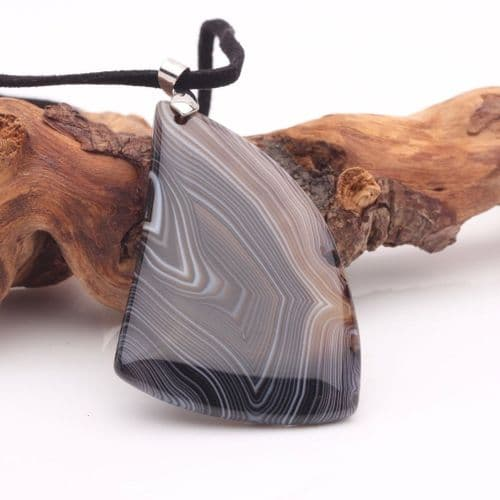 Banded Agate Pendant 11