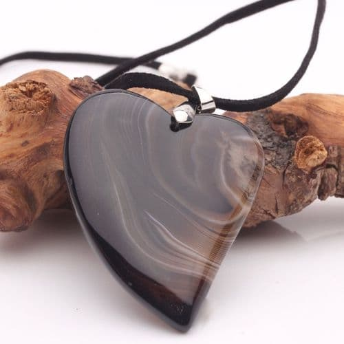 Banded Agate Pendant 5