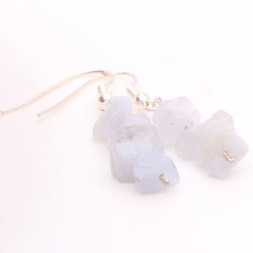 Blue Lace Agate Chip Earring