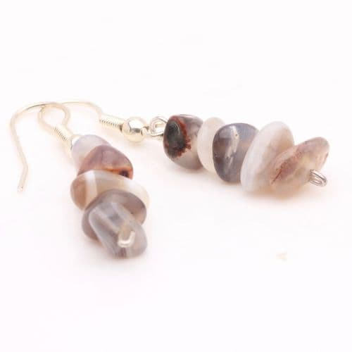 Botswana Agate Chip Earrings