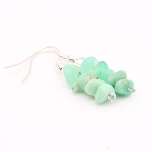 Chrysoprase Chip Earrings