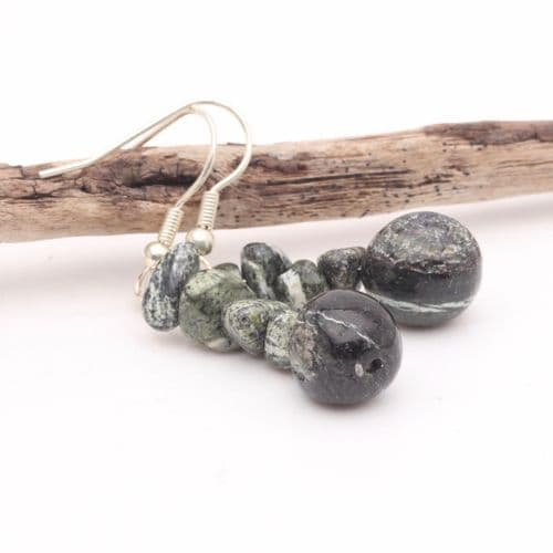 Chrysotile in Serpentine Earrings