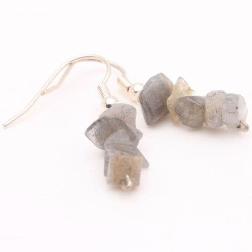 Labradorite Chip Earrings