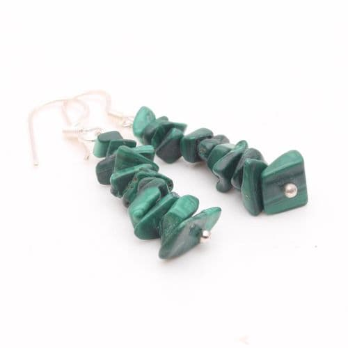 Malachite Chip Earring