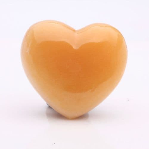 Orange Calcite Heart 8