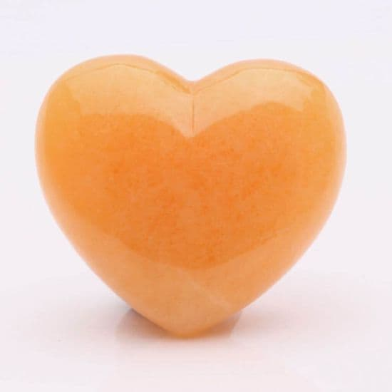 Orange Calcite Hearts