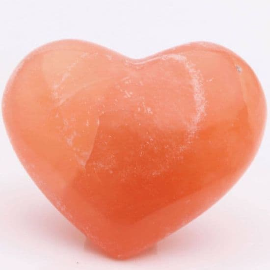 Orange Selenite Hearts