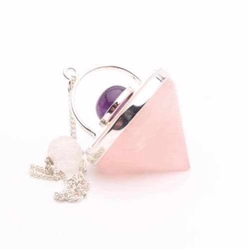 Rose Quartz UFO Pendulum 1