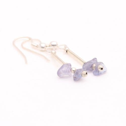 Tanzanite Chip Earrings