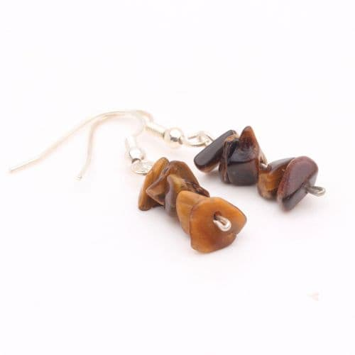 Tigers Eye Chip Earring