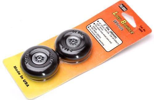 "Dubro 2"" (50.8 mm) Round & Smooth Wheels (Pair) DUB200R"