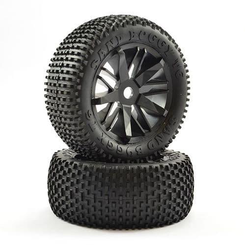 FTX Futura Rear Block Pin Tyres/Wheels Mounted (Pr) FTX7723