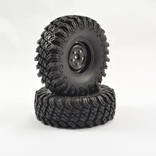 "FTX Outback Fury Pre-Mounted 1.9"" Wheel & Tyre (Pr) FTX9166B"