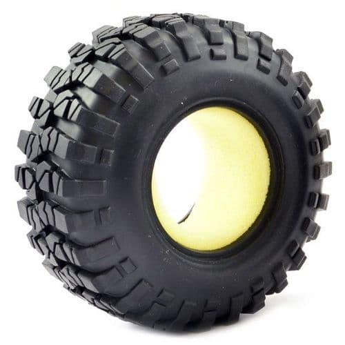 Fastrax 1:10 Crawler Sawblock Tyre/Insert Only 108mm Diameter - FAST1266T