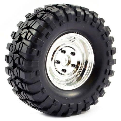 Fastrax Crawler Sawblock 1.9 Scale Wheel Ã108mm Tyre FAST1266C