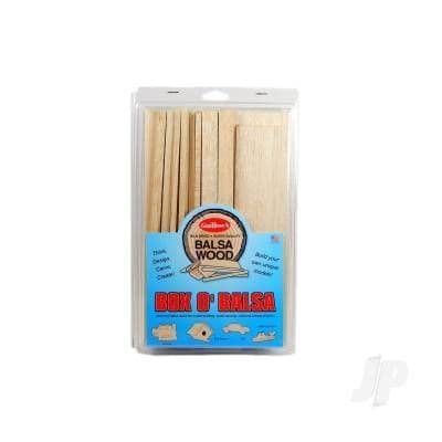 Guillow Box O'Balsa, Small (random sizes, 1 lb box) GUI14