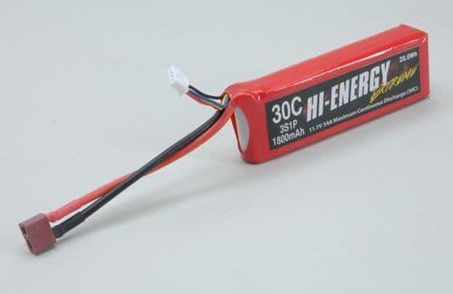 Hi-Energy Extreme 3S 1800mAh 30C Li-Po o-he3s1p180030a