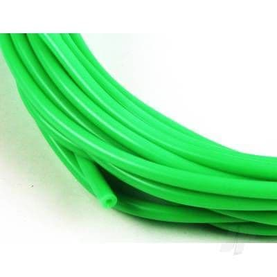 JP 2mm (3/32) Silicone Fuel Tube Neon Green 10m 5508540