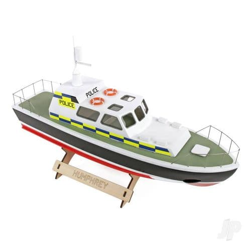 The Wooden Model Boat Company Police Launch Boat Kit 400mm WBC1002