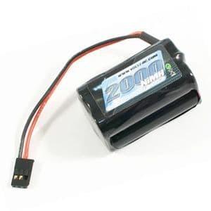 Voltz 2000mAh 4.8V NiMH Rx Receiver Square Battery Pack VZ0151