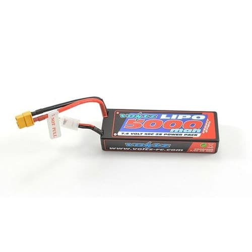 Voltz 5000Mah 2S 7.4V 50C Hard Case Stick Battery Xt60 VZ0317XT60