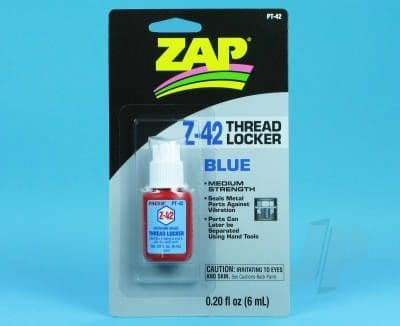 Zap PT42 Z-42 Blue Thread Locker .20oz 5525735