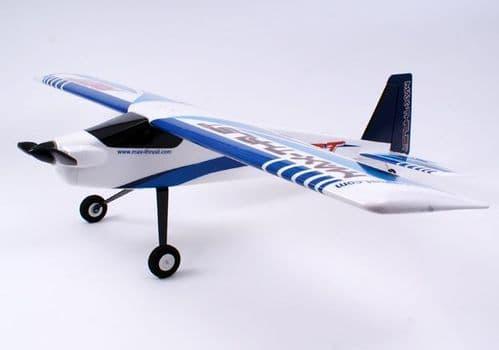 Century UK Max Thrust Riot V2 PNP Trainer Plane  - Blue 1-MT-RIOT-B