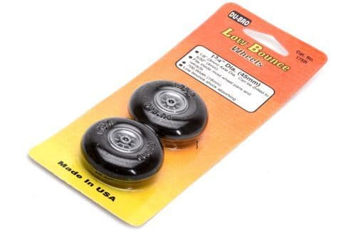 "Dubro 1-3/4"" (44.45 mm) Round & Smooth Wheels (Pair)"