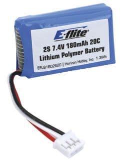 E-Flite 180Mah 2S 7.4Volt Lipo Micro Beast Bach EFLB1802S20