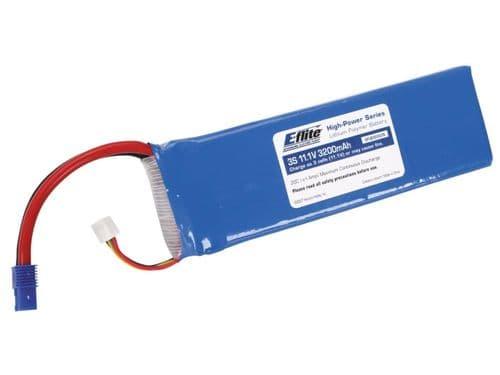 E-Flite 3200mAh 3S 11.1V 20C LiPo, 13AWG EC3 EFLB32003S