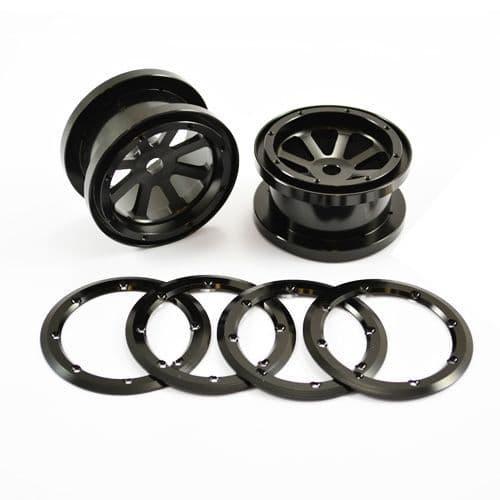 Fastrax Axial 8-Spoke 2.2 Alloy Beadlock Wheels (Wraith) (Pair)