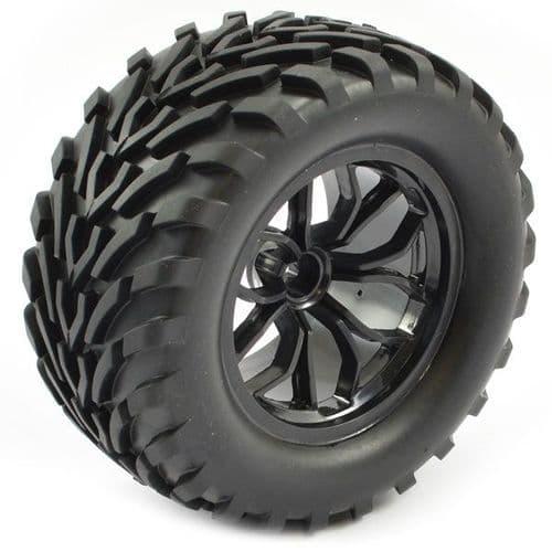 FTX Bugsta Mounted Wheel/Tyre Complete Pair - Black FTX6447B