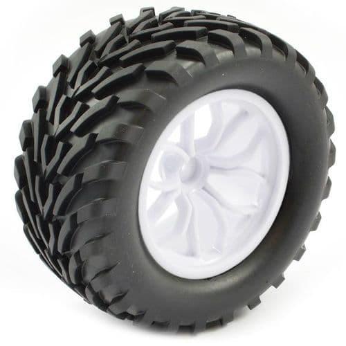 FTX Bugsta Mounted Wheel/Tyre Complete Pair - White FTX6447W
