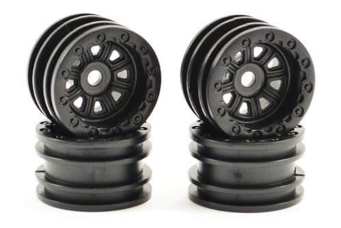 FTX Outback Mini Wheel Set - Black (4Pc) FTX8860BK