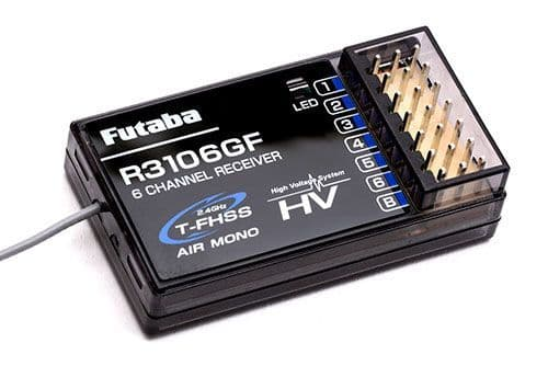 Futaba P-R3106GF 6-Channel Receiver - T-FHSS Air Mono HV