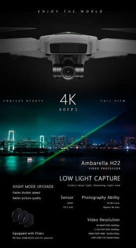 Hubsan Zino 2+ Folding Drone W/Storage Bag & Extra Battery H517P-HIGH