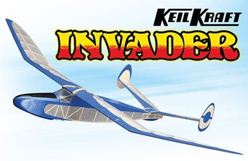 "Keil Kraft Invader Kit - 24.5"" Free-Flight Towline Glider"