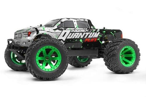 Maverick Quantum MT Flux 1/10 4WD Brushless Silver Monster Trk (2.4Ghz) MV150201