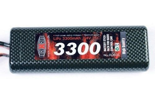 Maxam LiPo 7,4V 3300mAh 35C T-PLUG (Round Hard Case) A0601